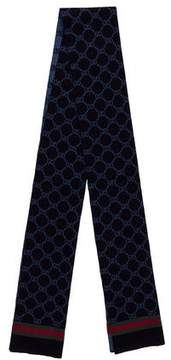 Gucci GG Web Wool Scarf