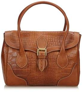 Mulberry Pre-owned: Embossed Leather Handbag.