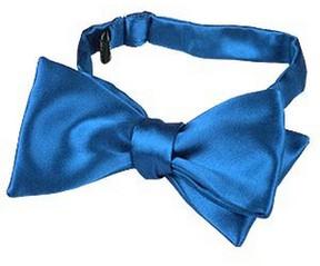 Forzieri Sky Blue Solid Silk Self-tie Bowtie