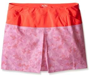 adidas Womens Tour Mixed Print Skort Skirt Purple M