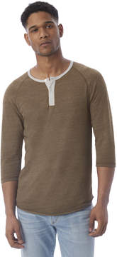 Alternative Apparel Basic Eco-Jersey Raglan Henley Shirt