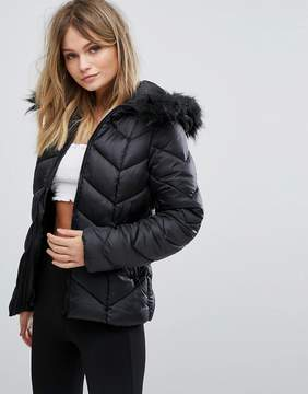 New Look Chevron Padded Jacket