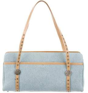 Jimmy Choo Leather-Trimmed Denim Tote