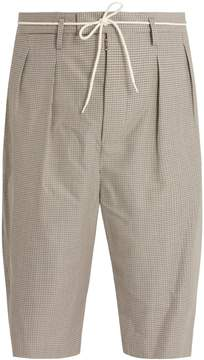 Maison Margiela Micro-houndstooth wool-blend shorts