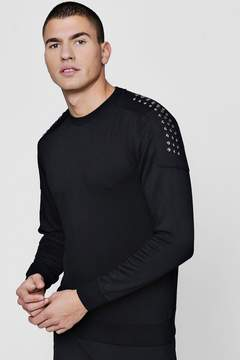 boohoo Studded Shoulder Sweater