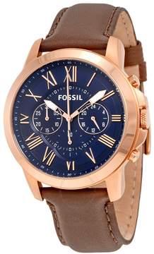 Fossil Grant Chronograph Blue Dial Men's Quartz Watch