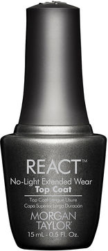 MORGAN TAYLOR Morgan Taylor React No-Light Extended Wear Top Coat - .5 oz.