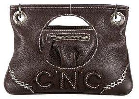 Costume National Logo Stitched Leather Satchel