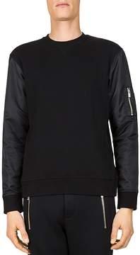 The Kooples Fleece and Nylon Sweatshirt