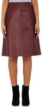 Barneys New York Women's Patch-Pocket Leather Skirt
