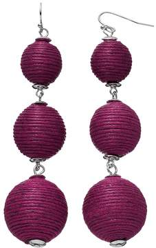 Ball Thread Wrapped Graduated Nickel Free Drop Earrings