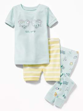 Old Navy 3-Piece Hello, Spring Graphic Sleep Set for Toddler & Baby