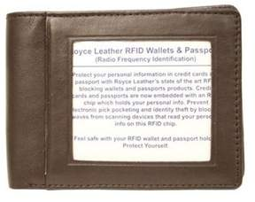 Royce Leather Unisex Rfid Blocking Double Id Flat Fold Wallet 007-5.