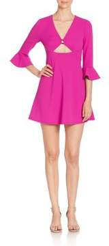 ABS by Allen Schwartz Bell Sleeve Dress with Cutouts