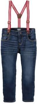 Osh Kosh Toddler Boy Striped Suspender Jeans