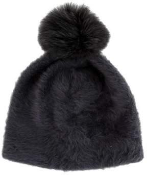 Max Mara Fur Pom-Pom Beanie w/ Tags