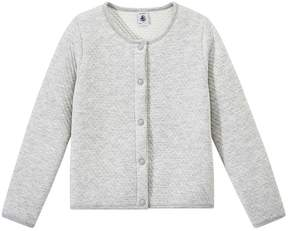 Petit Bateau Girls quilted double knit cardigan