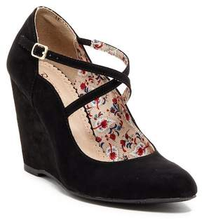 Restricted Baby Max Mary Jane Wedge Pump