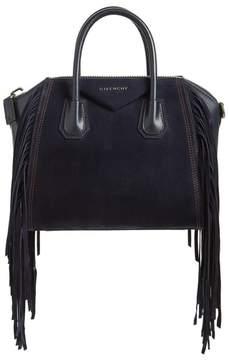 Givenchy Small Antigona Fringe Embellished Suede Satchel