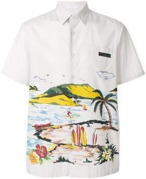 Prada beachscape print shirt