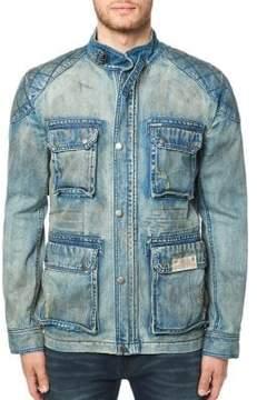 Buffalo David Bitton Quilted Detail Denim Jacket