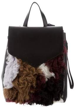 Loeffler Randall Mini Shearling Backpack