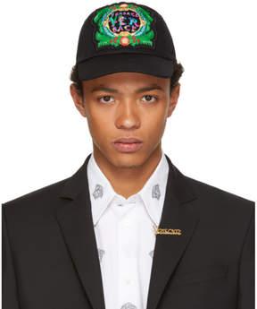 Versace Black Embroidered New Signature Cap