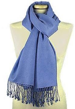 Forzieri Ocean Blue Pashmina & Silk Shawl