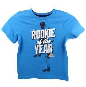 adidas Kids 4-7x Rookie of the Year Tee - Solar Blue - Boys - 6