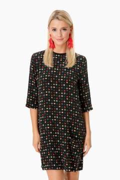 Equipment True Black Floral Silk Aubrey Dress