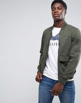 Hollister Military Bomber in Olive