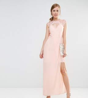 Elise Ryan Sweetheart Maxi Dress With Eyelash Lace Trim