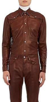 Calvin Klein Men's Leather Western Shirt