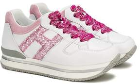 Hogan glitter logo sneakers