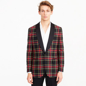 J.Crew Ludlow Slim-fit blazer in red tartan wool