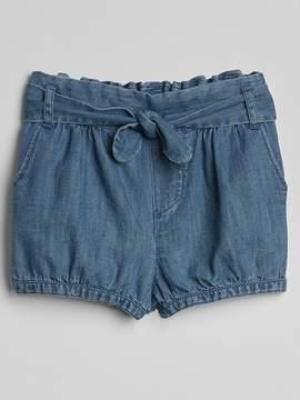 Gap Pull-On Chambray Bubble Shorts