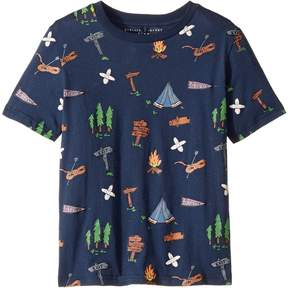 Stella McCartney Arrow Short Sleeve Campsite Printed Tee Boy's Clothing
