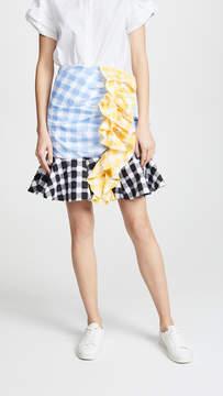 Caroline Constas Ruffle Skirt