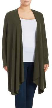 Context Plus Ribbed-Knit Duster Cardigan