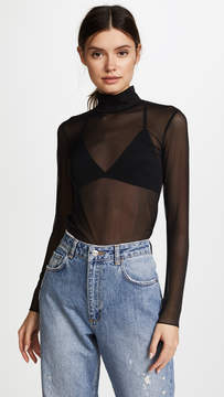 Commando Chic Mesh Turtleneck Top