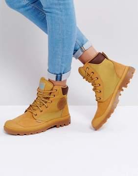 Palladium Pampa Amber Gold Sports Cuff Flat Ankle Boots