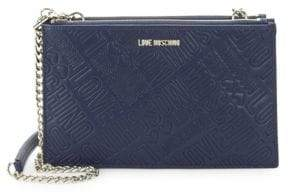 Love Moschino Embossed Logo Convertible Clutch