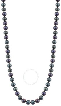 Bella Pearl Single Strand Black Freshwater Pearl 20 Necklace
