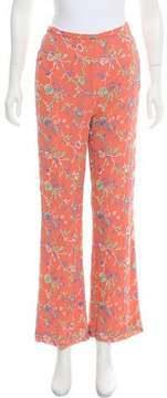 Ungaro High-Rise Floral Embroidered Pants