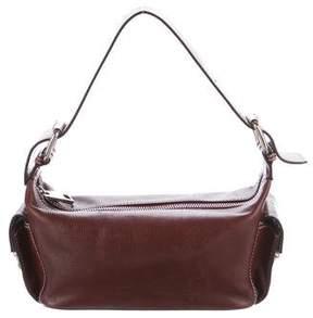 Marc Jacobs Textured Leather Shoulder Bag - BURGUNDY - STYLE