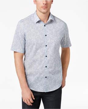 Alfani Men's Abstract Broken-Stripe Shirt, Created for Macy's