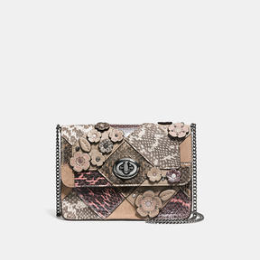 COACH Coach Bowery Crossbody In Patchwork Snake - DARK GUNMETAL/MULTICOLOR - STYLE