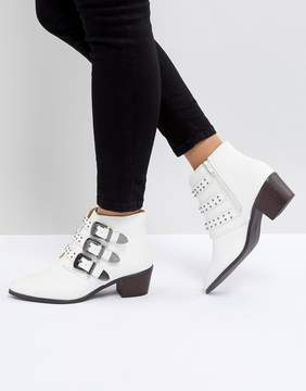 White Buckle Boots