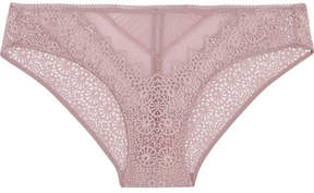 Calvin Klein Underwear Excite Stretch-lace And Tulle Briefs - Lilac