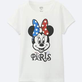 Uniqlo Girl's Mickey Travels Short-sleeve Graphic T-Shirt